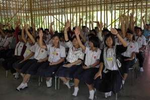 Students of Mechai Pattana Bamboo School in Buriram, Thailand © ADB